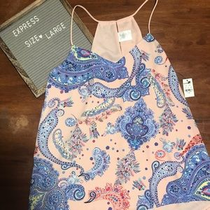NWT: Express pink multicolored tank